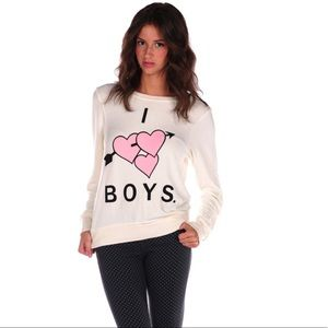 WILDFOX | Cream Graphic Sweater | Small